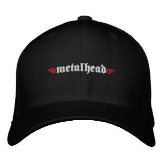 O chapéu principal w/Skull do metal suporta sobre Boné Bordado