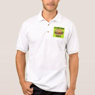 O cheeseburger projeta camisa polo