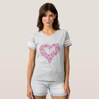O cheio das mulheres do t-shirt do futebol do