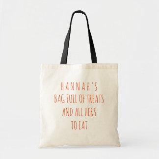 O cheio engraçado do saco dos deleites cita o saco bolsa tote