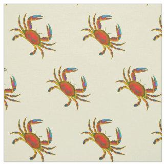 O Chesapeake vermelho pequeno Crabs o tecido