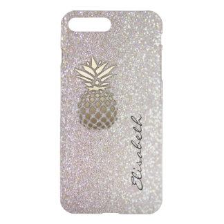O chique elegante moden o abacaxi glittery do capa iPhone 7 plus