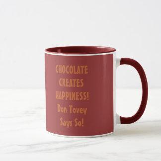 O chocolate faz-me feliz caneca