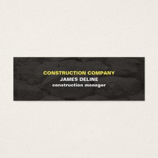 O cinza simples moderno apedreja a construção cartão de visitas mini