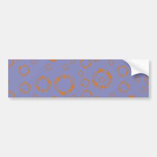 o círculo azul alaranjado feminino esquadra a arte adesivo para carro