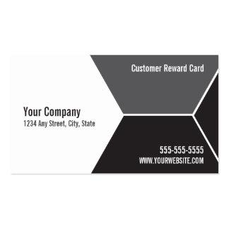 O cliente do lavagem de carros recompensa o cartão cartão de visita