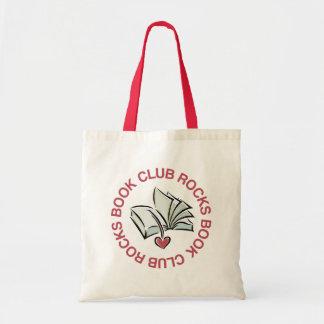O clube de leitura balança o mini presente da bolsa de lona