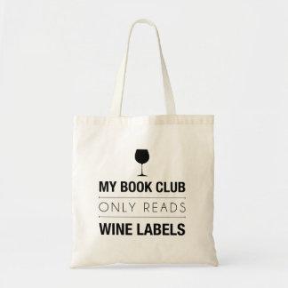 O clube de leitura lê o saco das etiquetas do vinh sacola tote budget