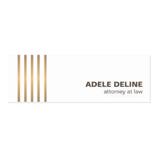 O cobre limpo chique minimalista alinha o advogado cartão de visita skinny