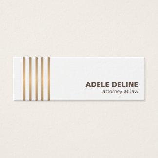 O cobre limpo chique minimalista alinha o advogado cartão de visitas mini