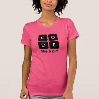 O código gosta de uma menina camisetas