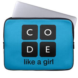 O código gosta de uma menina capa de computador notebook