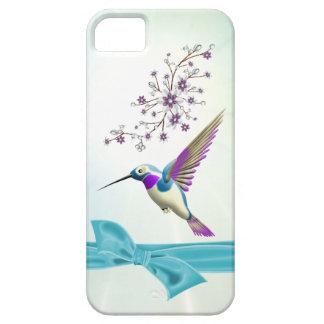 O colibri floresce o iPhone 5 da case mate da fita Capa Barely There Para iPhone 5