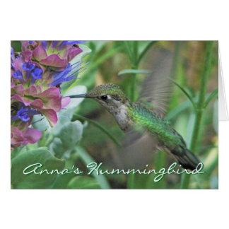 O colibri Notecard de Anna Cartão De Nota