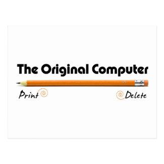 O computador original cartão postal