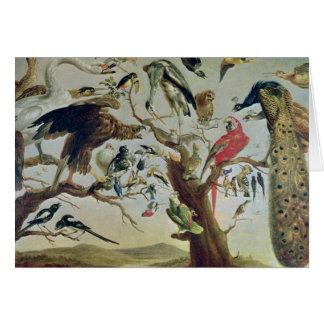 O concerto do pássaro cartão comemorativo