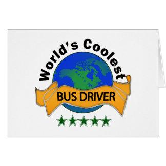 O condutor de autocarro o mais fresco do mundo cartão comemorativo