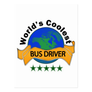 O condutor de autocarro o mais fresco do mundo cartão postal