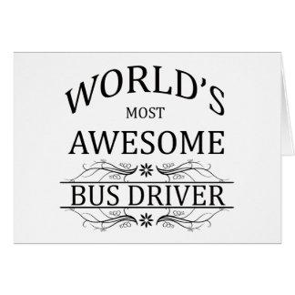 O condutor de autocarro o mais impressionante do cartão