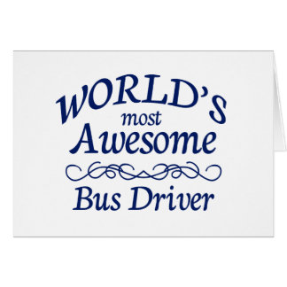 O condutor de autocarro o mais impressionante do cartão comemorativo
