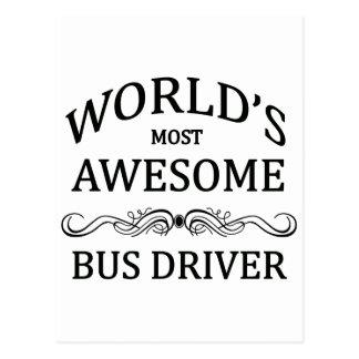 O condutor de autocarro o mais impressionante do cartão postal