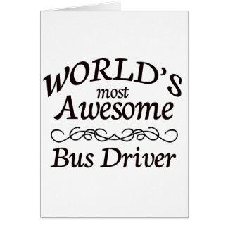 O condutor de autocarro o mais impressionante do m cartão comemorativo