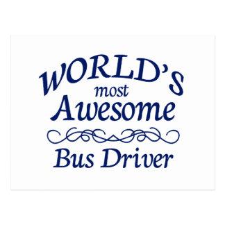 O condutor de autocarro o mais impressionante do m cartão postal