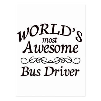 O condutor de autocarro o mais impressionante do m cartões postais