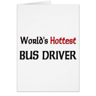 O condutor de autocarro o mais quente dos mundos cartao