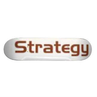 o conselho branco do skate da estratégia