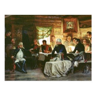 O Conselho da guerra em Fili em 1812, 1882 Cartão Postal