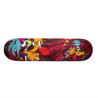 O conselho da menina do palhaço do demónio shape de skate 18,4cm