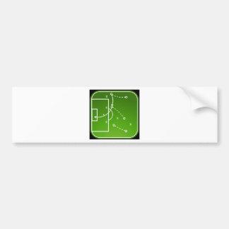 O conselho das táticas do futebol adesivo para carro