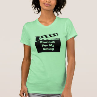 O conselho de Clapperboard da ardósia do filme Tshirts