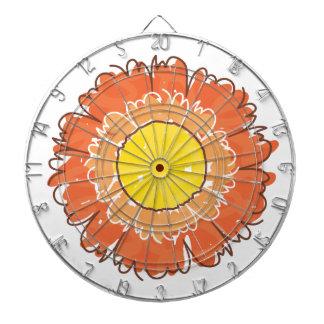 O conselho de dardo bonito da flor - laranja jogos de dardos