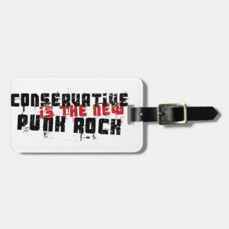O conservador é o punk rock novo tags de mala