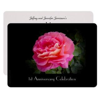 ø Convite da festa de aniversário, rosa do rosa