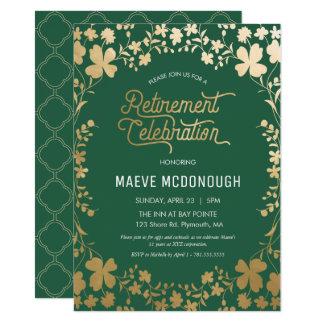 O convite de festas da aposentadoria, celebração