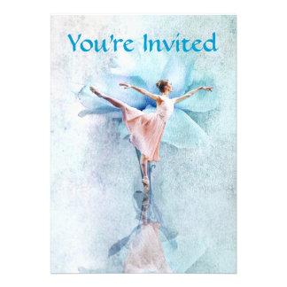 O convite de festas da bailarina