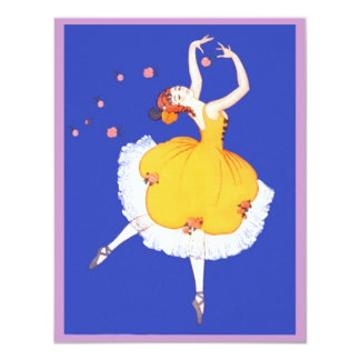O CONVITE DE FESTAS da bailarina & das flores do