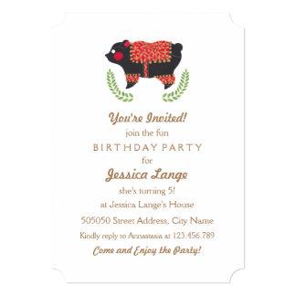 O convite de festas étnico do aniversário de