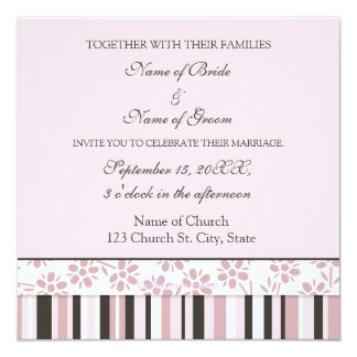 O convite do casamento da foto carda listras