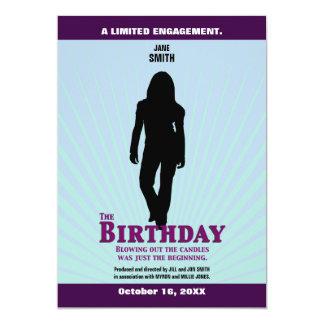 O convite do filme do aniversário (menina)