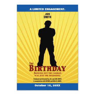 O convite do filme do aniversário (menino)