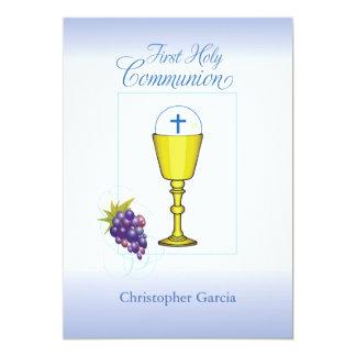 O convite personaliza o primeiro comunhão Ch do