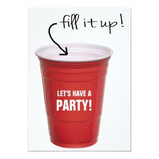 O copo engraçado das bebidas deixou-nos ter um convite 12.7 x 17.78cm