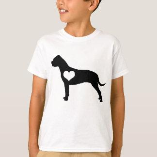 O coração americano de Terrier de pitbull caçoa o Tshirt