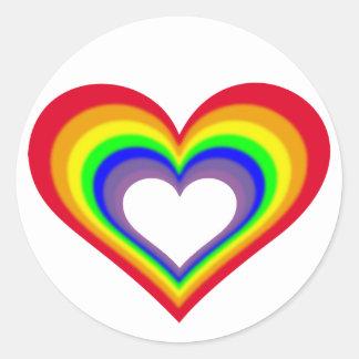 O coração das cores adesivo