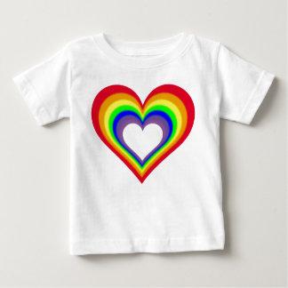 O coração das cores camisetas