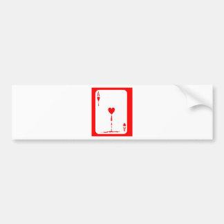 O coração de sangramento Aces o cartão por Sharles Adesivo Para Carro